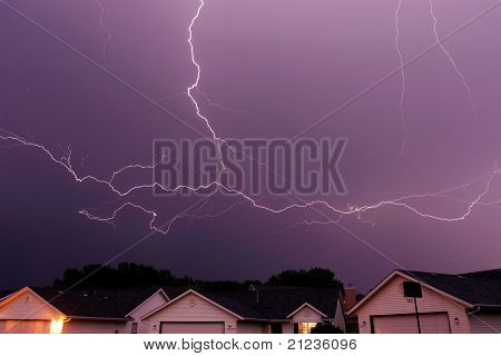 spreading lightning strike