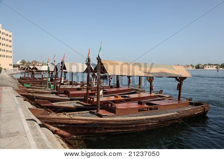 Traditional Abra Ferries in Dubai