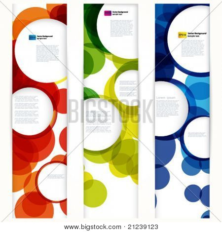 Abstract vertical banner with forms of empty frames for your www design.