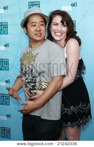 SANTA MONICA - JULY 14: Bobby Lee and Crista Flanagan at the Fox TCA Summer Party in Santa Monica, California on July 14, 2008.