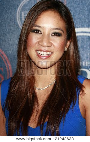 LOS ANGELES - JULY  15: Michelle Kwan at the 2008 ESPYs Giant Event in downtown Los Angeles, California on July 15, 2008.