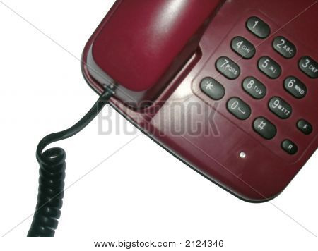 Brown Telephone With Cord