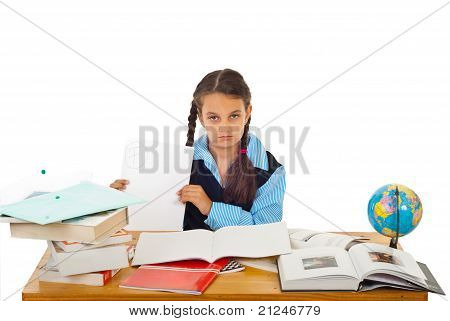 Student Girl Showing Bad Result Test