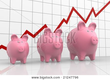 Graphic And Piggy Bank