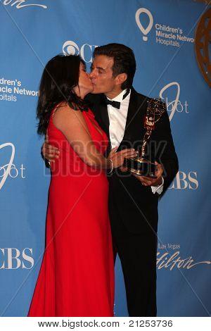 LAS VEGAS - JUNE 19:  Lisa Oz, Dr. Mehmet Oz in the Press Room of the  38th Daytime Emmy Awards at Hilton Hotel & Casino on June 19, 2010 in Las Vegas, NV.