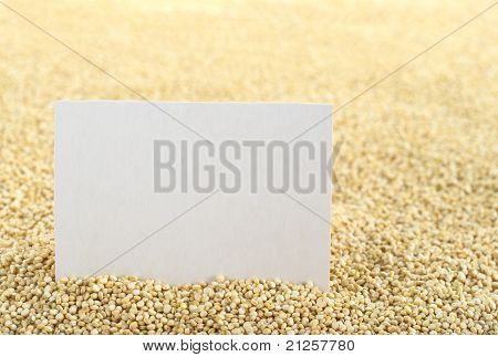 Quinoa with Blank Card