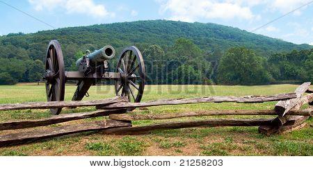 Civil War era cannon overlooks Kennesaw Mountain National Battlefield Park