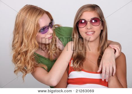 two young blonde women
