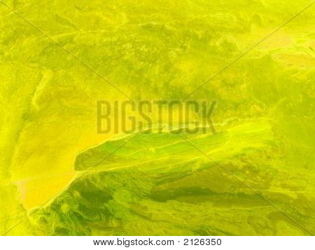 Abstract Grungy Background Series - Psychedelic Yellow. Aged Paper Texture, Painted, Scratched Wall
