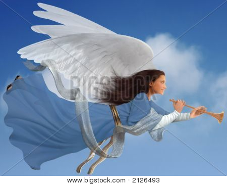 Angel On White