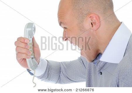 Nervous businessman