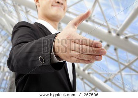 Closeup of businessman's handshake