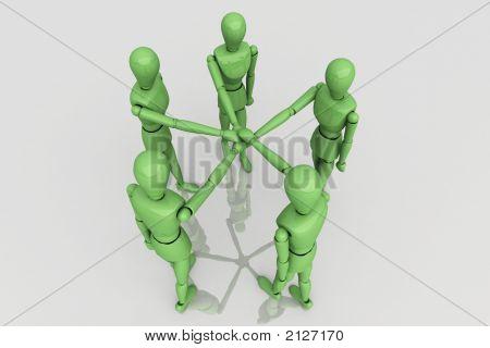 3D Render Team Work Crew