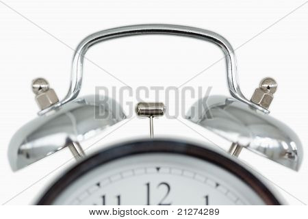 Close Up Of An Old Fashioned Alarm Clock