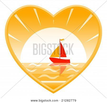 Sailboat In Heart