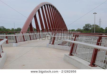 Futuristic Pedestrian Bridge.