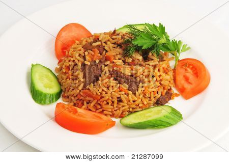 Pilaf with vegetables