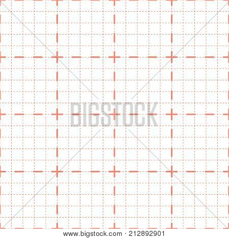 poster of Vector seamless background for cardiogram or oscilloscope.