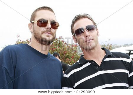 PALOS VERDES, CA - JUL 29: Kevin Federline; his brother Chris Federline at the Ryan Sheckler X Games Celebrity Skins Classic at the Trump National Golf Club in Rancho Palos Verdes, CA on July 29, 2008