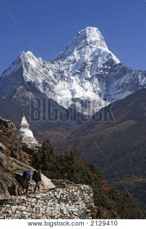 Mt. Ama Dablam And Trekkers