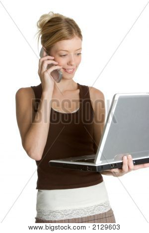 Laptop Phone Woman