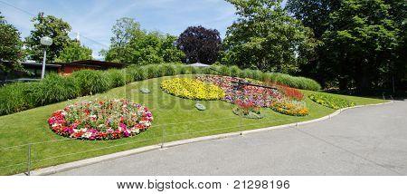 Famous Flower Clock, Geneva,
