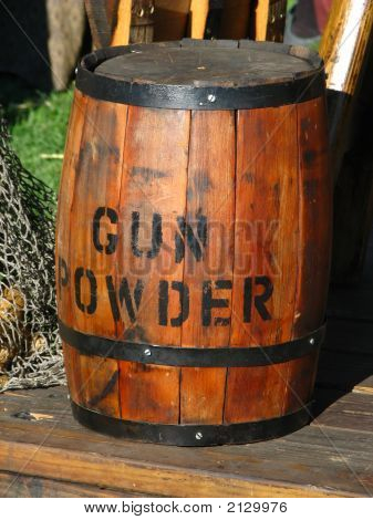 Pirate Ship Gun Powder Keg