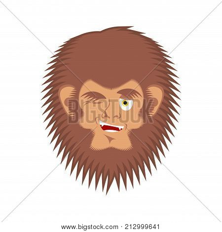 Bigfoot winks emoji