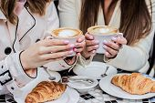 Coffee Brake With Best Friend. Women With Coffee. poster