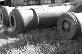 picture of cannonball  - old cannons - JPG