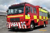Постер, плакат: Британский пожарная машина