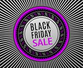 Black Friday Sale Banner. Advertising Poster poster
