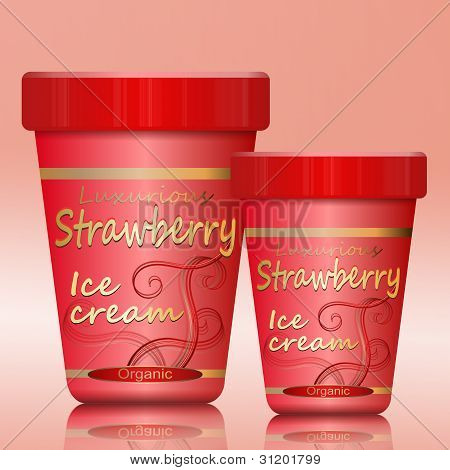 Strawberry Ice Cream.
