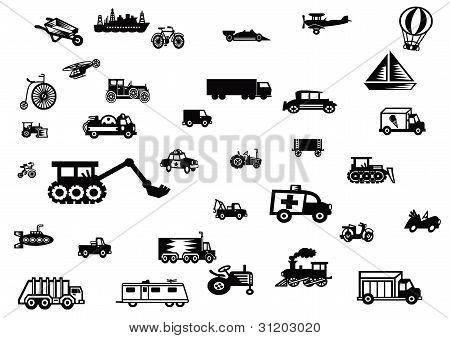 Transportation vector silhouette