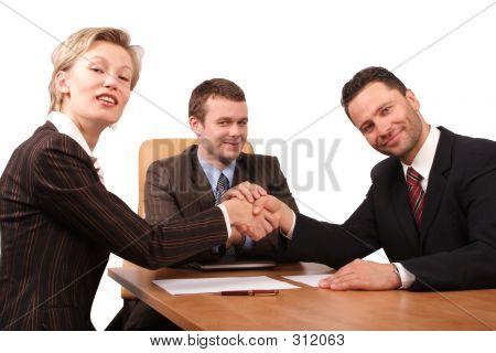 3 People Handhshake