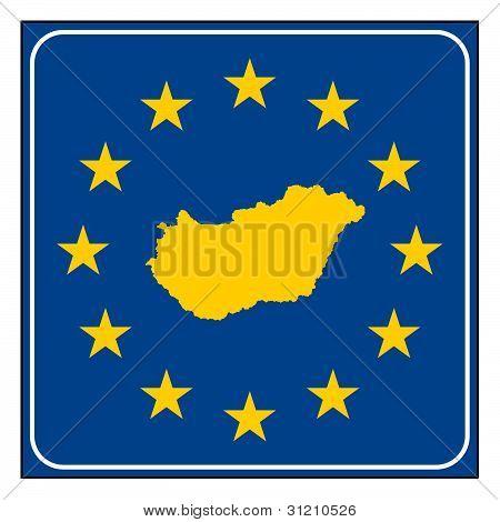 Hungary European Button