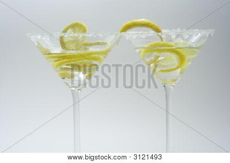 Martini With Sugar Crust, Lemon And Peels