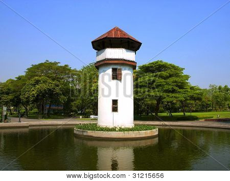 Old Prison Tower In The Park