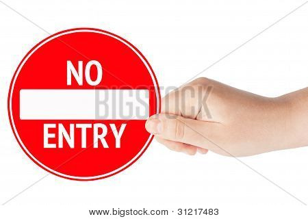 No Entry With Hand