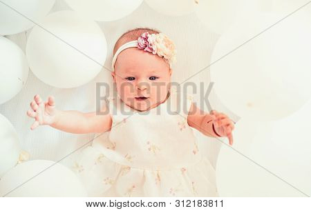 poster of My Sweet Baby. Family. Child Care. Childrens Day. Small Girl. Happy Birthday. Childhood Happiness. P