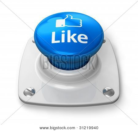Social network concept: blue Like button