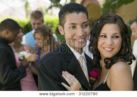 Teenage Couple at Prom