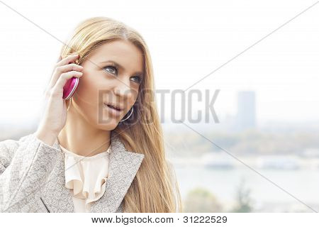 Young Business Woman With Smartphone