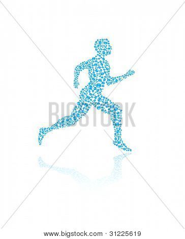 Jogging human silhouette in vector format for medical concepts