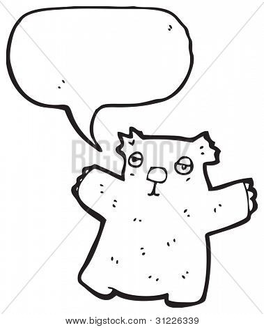 wombat with speech bubble
