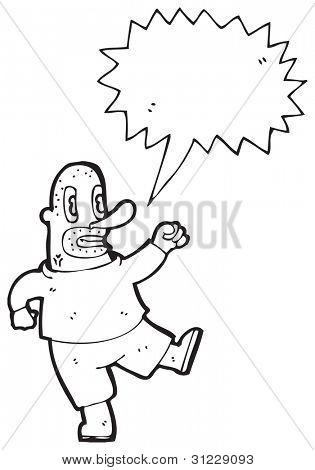 angry man cartoon