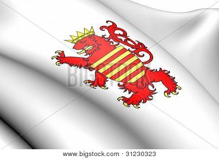 Flag Of Limburg, Belgium.