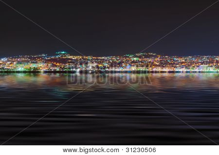 Night View Of Kusadasi Turkey