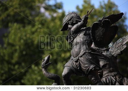 Angle guard at Marienplatz, Munich Germany