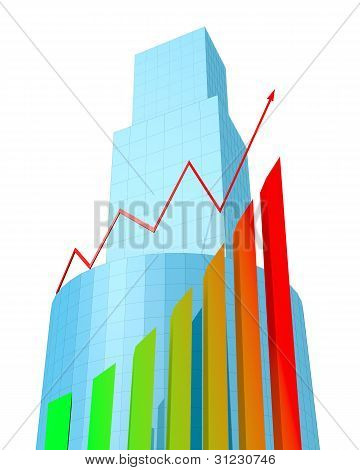 Buildings And Arrow Chart
